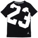 【JORDAN】 オールオーバー#23 Tシャツ (128-170cm) BK/WH