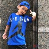 【JORDAN】 オールオーバーJM&JORDANロゴ Tシャツ (128-170cm) BL