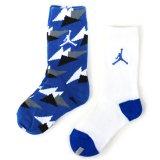 【JORDAN】 AIR JORDAN7 靴下2足セット (約14-23cm) BL/WH