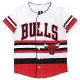 【UNK】シカゴ・ブルズ  ゲームシャツ (130-160cm) WH/RD