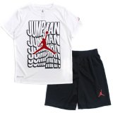 【JORDAN】DRI-FIT  5連JUMPMAN Tシャツ上下2点セット  (96-122cm) WH/BK