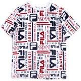 【FILA】総柄ロゴ Tシャツ (130-170cm) WH