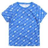 【adidas Originals】トレフォイルロゴ総柄 半袖Tシャツ (100-130cm) BL