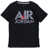 【JORDAN】AJ4 ステンシル AIRロゴ Tシャツ (128-158cm) BK