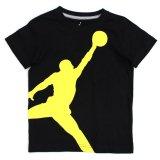 【JORDAN】 オールオーバージャンプマン Tシャツ (96-122cm) BK/YL