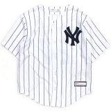 【Majestic】NYヤンキース ベースボールシャツ (95-120cm) WH/NV