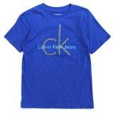 【Calvin Klein】CK ロゴ半袖Tシャツ (96-122cm) BL