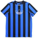 【adidas】トレフォイル ストライプ サッカーシャツ (130-170cm) BL/BK