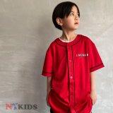 【JORDAN】スタンダードロゴ ベースボールシャツ (128-170cm) RD