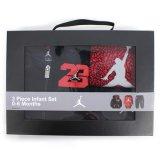 【JORDAN】BOX付き ベビー3点セット (60-70cm) BK/IRD