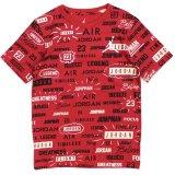 【JORDAN】総柄マルチロゴ  Tシャツ (116-122cm) RD