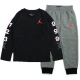 <img class='new_mark_img1' src='https://img.shop-pro.jp/img/new/icons5.gif' style='border:none;display:inline;margin:0px;padding:0px;width:auto;' />【JORDAN】長袖Tシャツ&スウェットセットアップ (85-104cm) BK/HGY