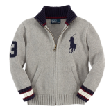<img class='new_mark_img1' src='//img.shop-pro.jp/img/new/icons20.gif' style='border:none;display:inline;margin:0px;padding:0px;width:auto;' />30%OFF【RALPH LAUREN】ビッグポニーフルジップセーター (130cm) GY