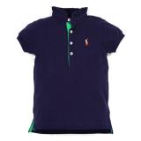 【RALPH LAUREN】フリル襟半袖ポロシャツ (100-110cm) NV