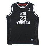 【JORDAN】フロント&バック刺繍 ゲームシャツ (96-122cm) BK/WH