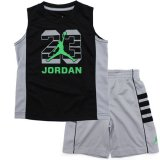 <img class='new_mark_img1' src='//img.shop-pro.jp/img/new/icons20.gif' style='border:none;display:inline;margin:0px;padding:0px;width:auto;' />30%OFF【JORDAN】 ノースリーブ上下2点セット (96-104cm) GY/BK/GN