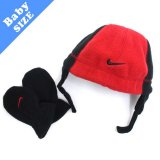 <img class='new_mark_img1' src='//img.shop-pro.jp/img/new/icons20.gif' style='border:none;display:inline;margin:0px;padding:0px;width:auto;' />30%OFF【NIKE】 フリース 帽子・手袋セット (50-52cm) RD/BK