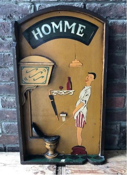 現行 木製看板 トイレマーク