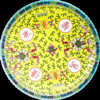 中国柄紙皿イエロー(5枚入り)