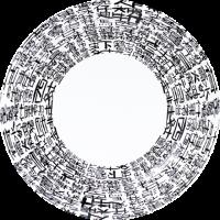 中国文字紙皿(5枚入り)