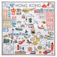 ハンカチ『MY HONG KONG MAP / English』