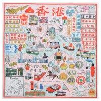 ハンカチ『MY HONG KONG MAP / Cantonese』