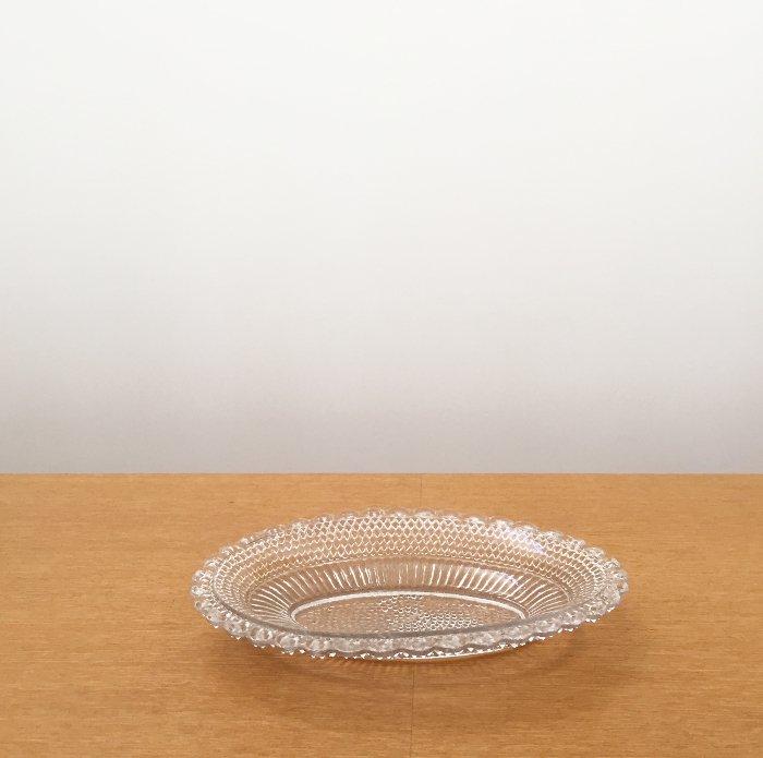 ガラス オーバルプレート01