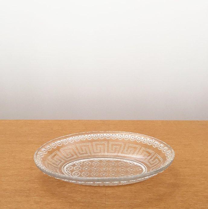 ガラス オーバルプレート02