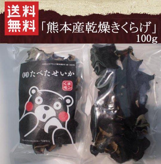 【送料無料】熊本産無農薬きくらげ100g