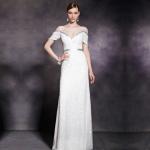店内在庫 SizeS相当 演奏会ドレス お袖付き演奏会用ロングドレス ステージドレス CF30295