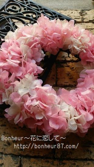 ピンクと白のプリザーブドフラワーリース |新築祝い|誕生日|開店祝い|退職祝い
