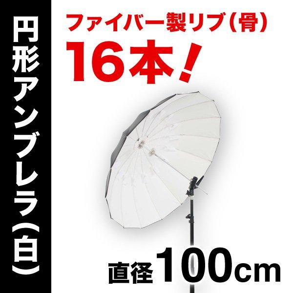アンブレラPro Mサイズ【白】(100cm)