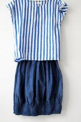 バリ島エンデック バルーンスカート(紺)