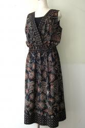 Batik Duta Melati 創作更紗服−カシュクールロングドレス−