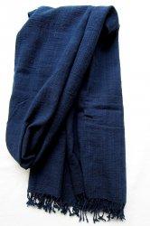 トゥバン手織木綿 藍染めストール