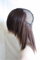 【未カット20cm】つけ毛付きメッシュキャップ