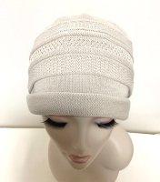 綿の柄織りカバー帽子