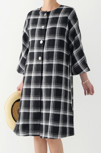手ぬいで簡単!着まわしを楽しむ大人服・材料キット14 ロングコート
