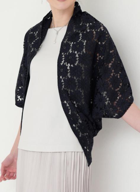 まっすぐ手ぬいでかんたん大人服・材料キット23 ストール状の布で作るボレロ