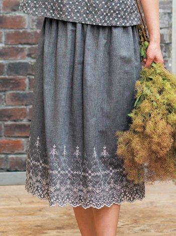心地いい手ぬいのおしゃれ服・材料キット4 直線裁ちスカート