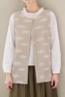 一枚の布から・・・手ぬいのかんたん大人服・材料キット24 ラウンドネックの上品ベスト サイズM