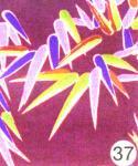 もめんちりめん36cm幅 (湖笹)紫 3m巻