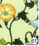 もめんちりめん36cm幅 (朝顔)黄緑 3m巻