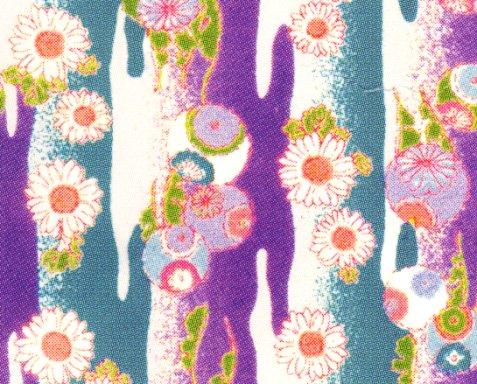 もめんちりめん110cm幅 (段霞)紫 ※1月のおすすめ布(期間限定sale)