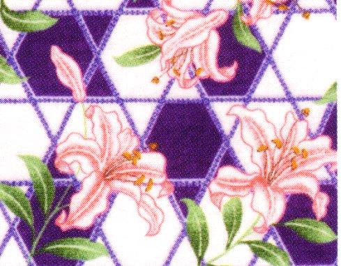 もめんちりめん110cm幅 (百合)紫 ※1月のおすすめ布(期間限定sale)