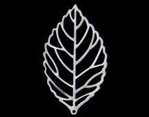 AEP101ー21 <br />アレンジパーツ リーフ大 <br />シルバー (5枚入り)【ネコポス可】