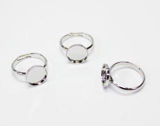 10mm 丸皿 甲丸リング (3ヶ入) ロジウム【ネコポス可】