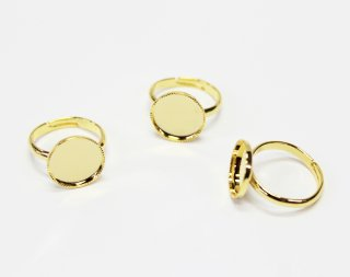 12mm 丸皿 甲丸リング (3ヶ入) ゴールド【ネコポス可】