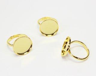 15mm 丸皿 甲丸リング (3ヶ入) ゴールド【ネコポス可】