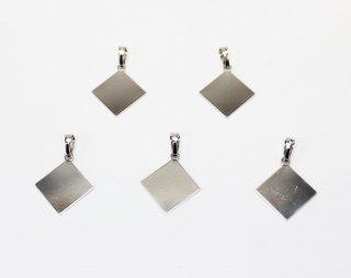 ペンダント 貼り付け用 12mm角 (5ヶ入) ロジウム【ネコポス可】